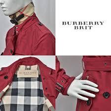 burberry brit burberry brit short trench coat red system women s 3957819 1002 alizarin crimson