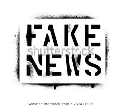 Stencil Spraypaint Fake News Spray Paint Graffiti Stencil Stock Vector Royalty Free