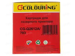 Купить Картридж лазерный colouring cg qa в интернет  Картридж лазерный colouring cg q2612a 703