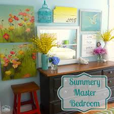 New In The Bedroom Summer Master Bedroom A New Gallery Wall And Mixing Pattern On