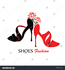Silhouette Design Shop Shoe Logo Silhouette Design Vector Template Stock Vector
