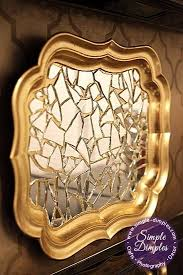 diy mirrored tray wall decor broken