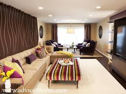 Small Picture purple sofa design and cream wall design in living room