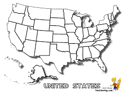 Usa Coloring Pages Printable Archives Throughout United States Map