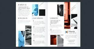 2 folded brochure template 2 fold brochure template corporate bi templates psd mediaschool info