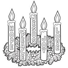 Small Picture Advent Wreath Coloring Page though candle themes may vary check