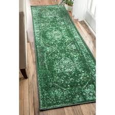 kitchen rugs zodicaworld rug ideas cool green runner rug with nuloom traditional vintage inspired overdyed fancy green runner