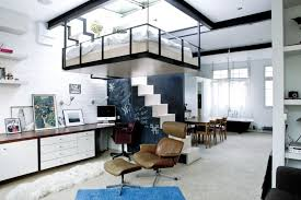 ... Loft And Pleasant Bed For Studio Apartment London With Suspended And  Rooftop Garden ...