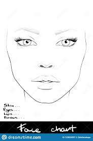 Face Chart Makeup Artist Blank Beautiful Woman Portrait
