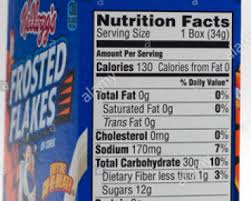 frosted flakes nutrition facts nutrition facts the truth facts about food fruit vegetable