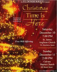 Christmas Concert Poster The Elderberries Choir Christmas Concert Poster