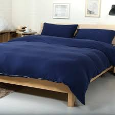 navy blue duvet cotton jersey knitted fabric solid color navy blue duvet cover set dark blue