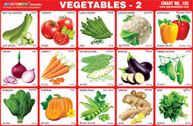 Vegetables Chart Vegetables Stickers Charts Buy Vegetable Learning Chart For Kids Kids Educational Learning Charts Root Vegetables Leafy Vegetables Chart Product On
