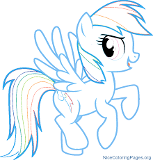 Small Picture How to Draw Rainbow dash character for Kids My little pony