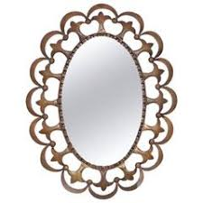 Oval Mirror with Murano Glass Flower Frame For Sale at 1stdibs