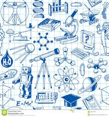 Science Themed Backgrounds Science And Education Seamless Pattern Stock Vector Illustration
