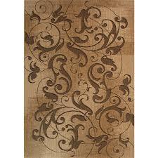 kannapolis chestnut rectangular indoor outdoor machine made inspirational area rug common 8