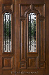 front door with one sidelightExterior Entry Doors with 1 Sidelight  Solid Mahogany Entry Doors