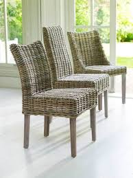 grey wash rattan dining chairs with cream cushion pair rattan high back dining chairs rattan wicker high back dining chairs set of 6