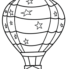 hot air balloon coloring page pdf blank pages free birthday boy printable images balloons colouring preschool