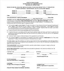 20 Snow Plowing Contract Templates Google Docs Pdf Word