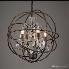 country hardware vintage orb crystal chandelier lighting rh rustic with designs 9