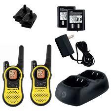 motorola two way radios. motorola talkabout mh230r 23 miles rechargeable two-way radio x 2 u. two way radios
