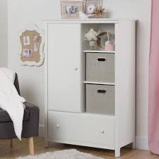 south s cotton candy pure white armoire