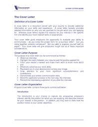 Cover Letter Definition Jobsxs Com