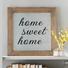 sensational design home sweet wall decor laurel foundry modern farmhouse galvanized metal framed heart decoration
