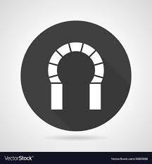 Archway Graphic Designs Horseshoe Archway Black Round Icon