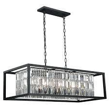 vaxcel catana oil rubbed bronze eight light linear chandelier hover to zoom