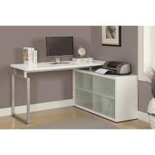 monarch specialties hollow core 2 in 1 piece white office suite