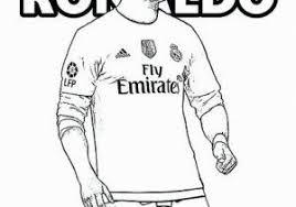 Messi Vs Ronaldo Coloring Pages Christiano Ronaldo Playing Soccer