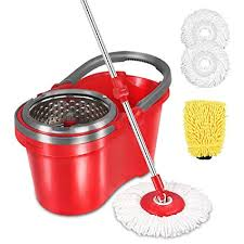 hapinnex spin wringer mop bucket set for home kitchen floor cleaning wet dry