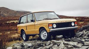 Classic Range Rover SUVs restored by Land Rover