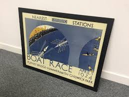 putney boat race poster and frame old hipster wall art and frame large