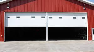 Swing-up Center Post Commercial Garage Door » Midland Garage Door