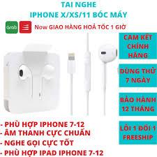 Tai nghe iphone X 7 8 Plus chính hãng chân dẹt lightning cho ip 7 8 plus X  Xs Max 11 Pro Max - Tai nghe có dây nhét tai Thương hiệu Apple