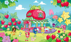 bekijk wallpaper strawberry shortcake kleurplaat