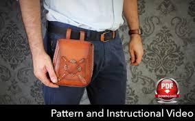 bag pattern leather diy pdf hip bag pattern tutorial