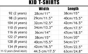 Sweater Size Chart For Babies Toddler T Shirt Size Chart Youth Clothes Size Chart Youth