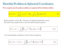 dirichlet problem in spherical coordinates