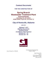 Spring Branch Wastewater Treatment Plant City Of Huntsville