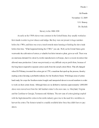 us history   slavery essay pinedo  ali pinedo november   us history dr skolnik slavery in the