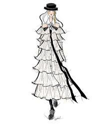 Fashion Illustration Chanel Dress Sketch Jessica Juliet