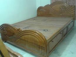 wooden bed stylish pure box bed at rs 30000 unit bijoygarh box khat simple design in