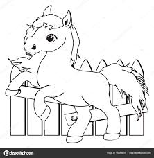 Kleine Schattige Paard Kleurplaat Stockfoto Tatty77tatty 158068878