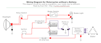 simple motorcycle wiring diagram for choppers and cafe racers evan custom motorcycle wiring harness kits at Custom Motorcycle Wiring Harness