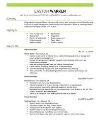 Resume For Hospitality Amazing Best Room Attendant Resume Example LiveCareer
